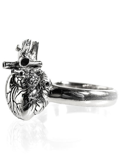 """Anatomical Heart"" Ring by Lost Apostle (Antique Silver) - InkedShop - 2"