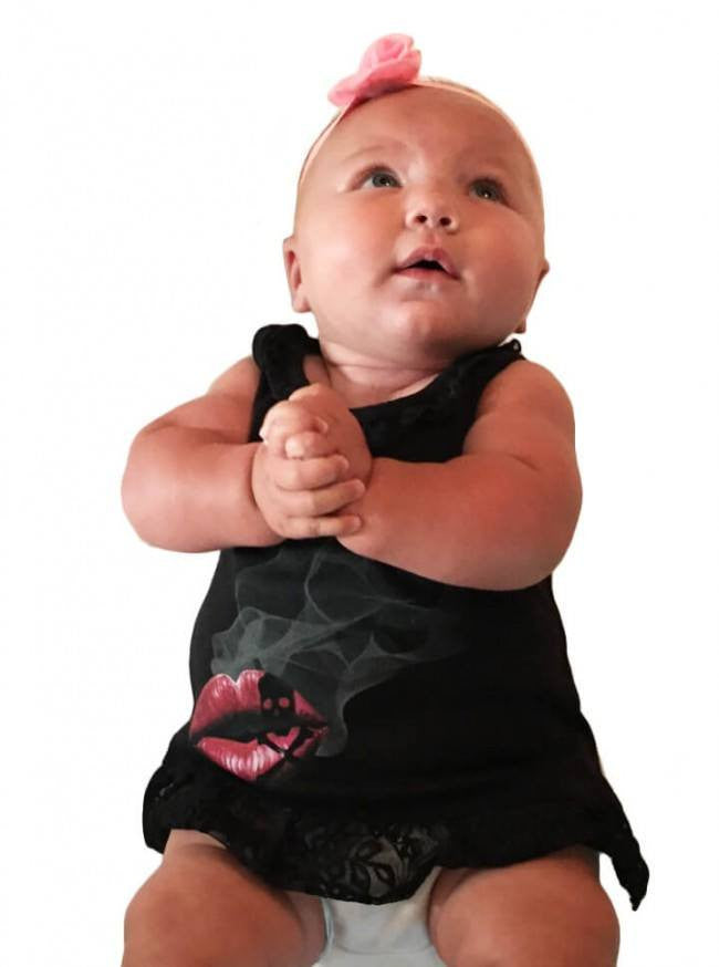 "Infant ""Last Kiss Smokey"" Dress by Inked (Black) - www.inkedshop.com"
