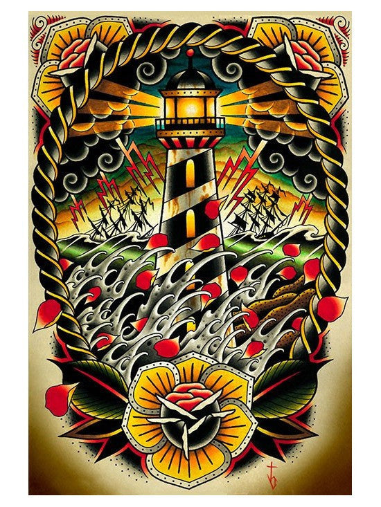 Last Port Art Print from Black Market Art - www.inkedshop.com