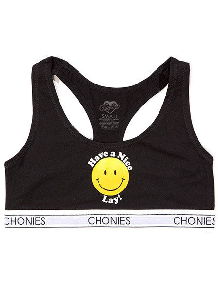 Women's Have A Nice Lay Sports Bra by Chonies