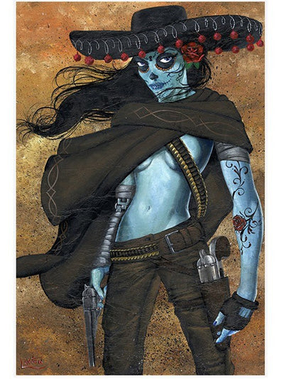 """La Mujer"" Print by JR Linton for Lowbrow Art Company - InkedShop - 2"