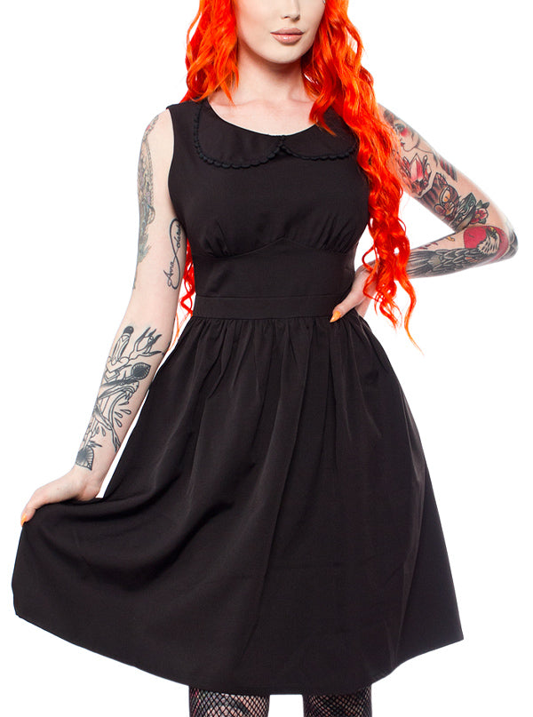 Women's Shift Dress by Sourpuss (Blackest Black)