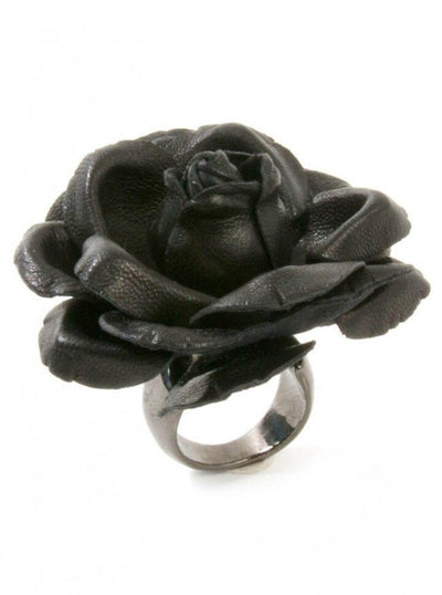 "Women's ""ORLI"" Ring by Aileyan (Black) - www.inkedshop.com"