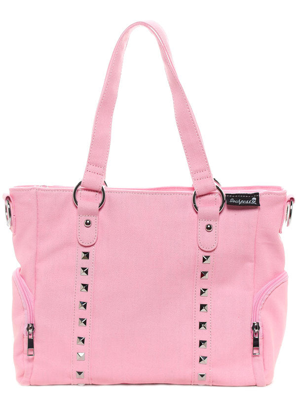 Leda Canvas Stud Purse by Sourpuss (Light Pink)
