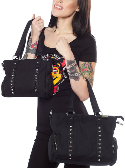 Leda Canvas Studded Purse by Sourpuss
