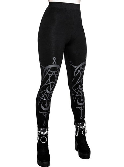 Women's Twin Moon Velvet Leggings by Restyle