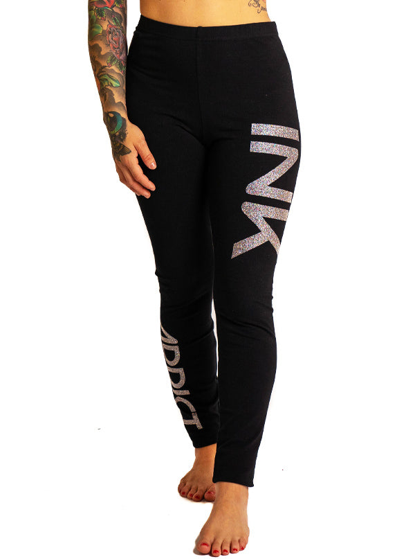 Women's INK III Glitter Leggings by InkAddict