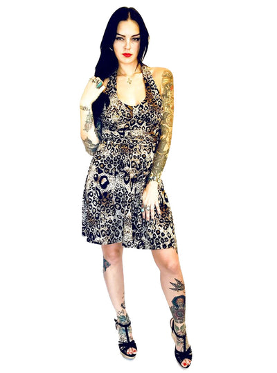 "Women's ""Leopard"" Marilyn Dress by Switchblade Stiletto (Leopard)"