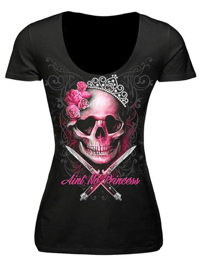 "Women's ""Ain't No Princess"" Tee by Lethal Angel (Black) - www.inkedshop.com"
