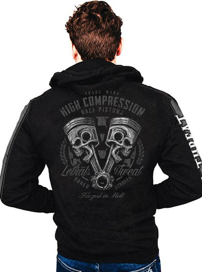 Men's High Compression Zip-Up Hoodie by Lethal Threat