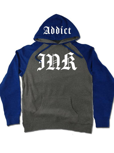 Men's Ink Lettering Two-Tone Hoodie by InkAddict