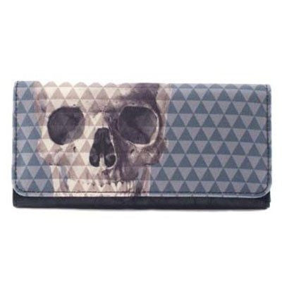 Skull With Pyramid Studs Wallet by Loungefly - InkedShop - 1