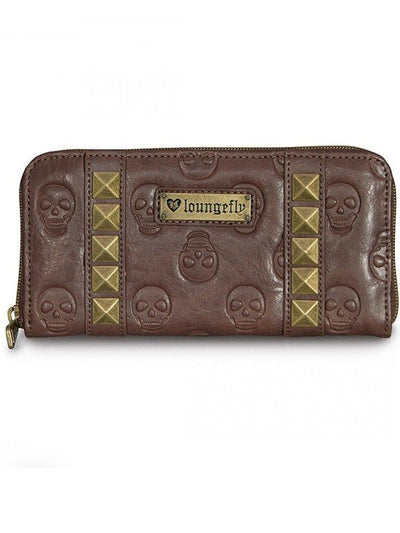 """Skull Pyramids"" Wallet by Loungefly (Brown) - www.inkedshop.com"