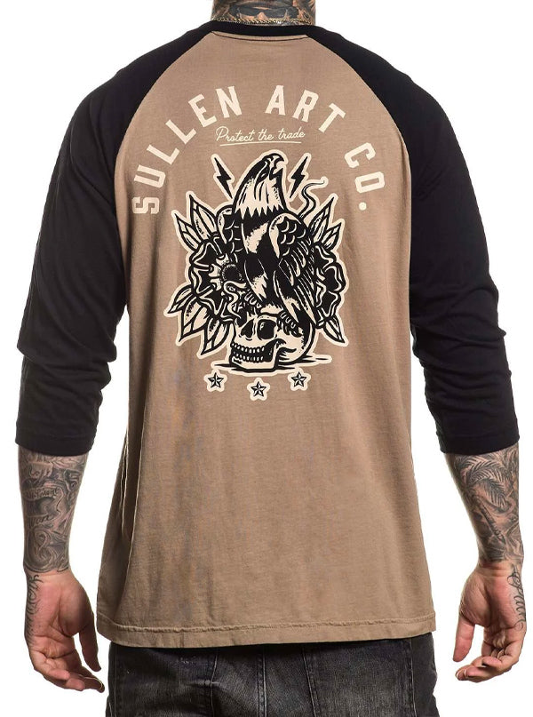 Men's Liberty Raglan by Sullen (Lead Grey/Black)