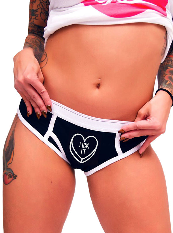 Women's Lick It Boy Brief Underwear by Aesop Originals