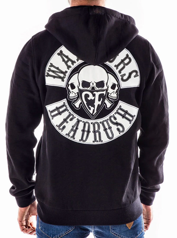 "Men's ""Ride The Lightning"" Zip Up Hoodie by Headrush Brand (Black)"