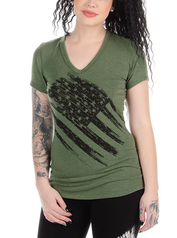 Women's Lincoln V-Neck Tee by Liberty Wear
