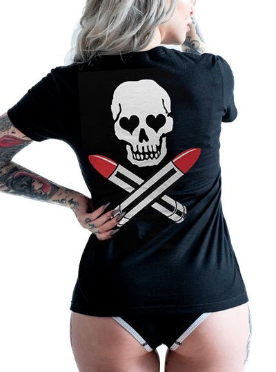 Women's Lipstick Kills Tee by Cartel Ink