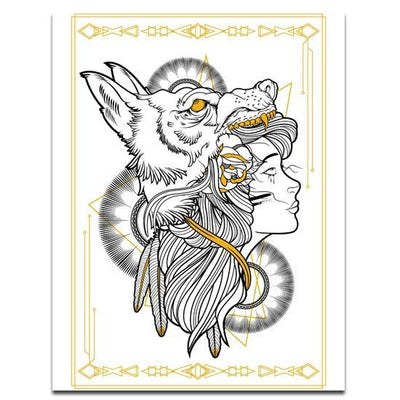 """Little Wolf"" Print by Mindzai Creative - InkedShop - 1"
