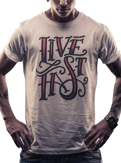 Men's Live Fast Tee by Norvine