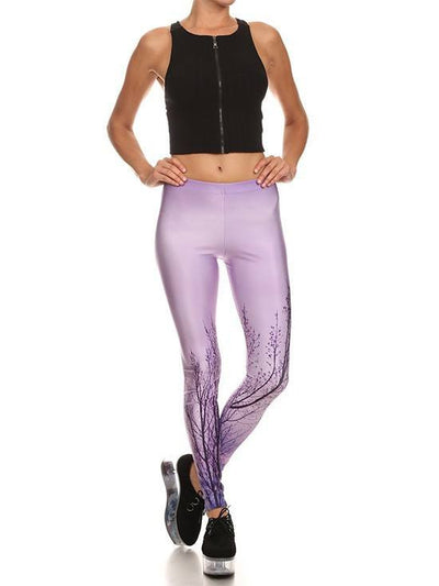 "Women's ""Lilac Trees"" Leggings by Poprageous (Purple) - www.inkedshop.com"