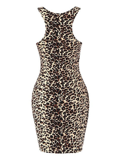 Women's Leopard Pencil Dress by Double Trouble Apparel