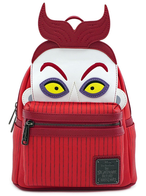 Nightmare Before Christmas: Lock Cosplay Mini Backpack by Loungefly (Red)