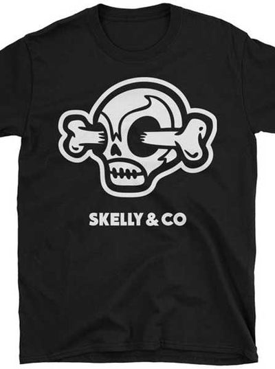 "Men's ""Logo Skull"" Tee by Skelly & Co (Black)"