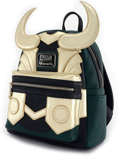"""Marvel: Loki"" Cosplay Mini Backpack by Loungefly (Olive)"
