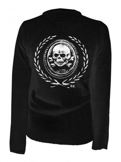 "Women's ""Death Or Glory"" Cardigan by Pinky Star (Black) - www.inkedshop.com"
