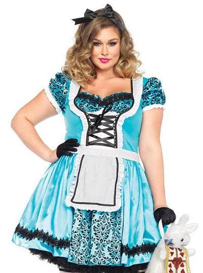 Women's Looking Glass Plus Size Costume by Leg Avenue