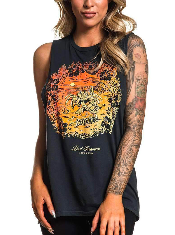 Women's Lost Treasure Muscle Tee by Sullen