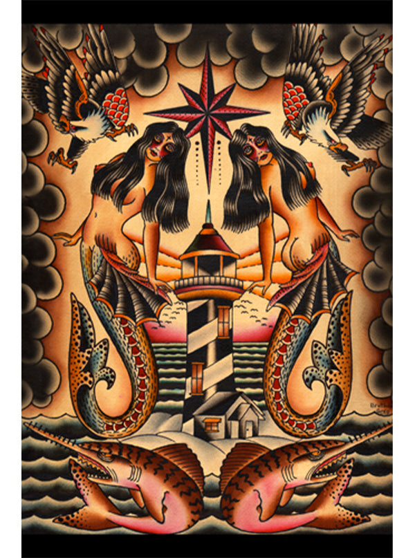 Lost At Sea Print by Brother Greg for Black Market Art