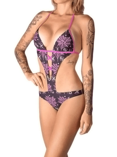 "Women's ""Love Poison"" Monokini by Beautiful Disaster (Black) - www.inkedshop.com"