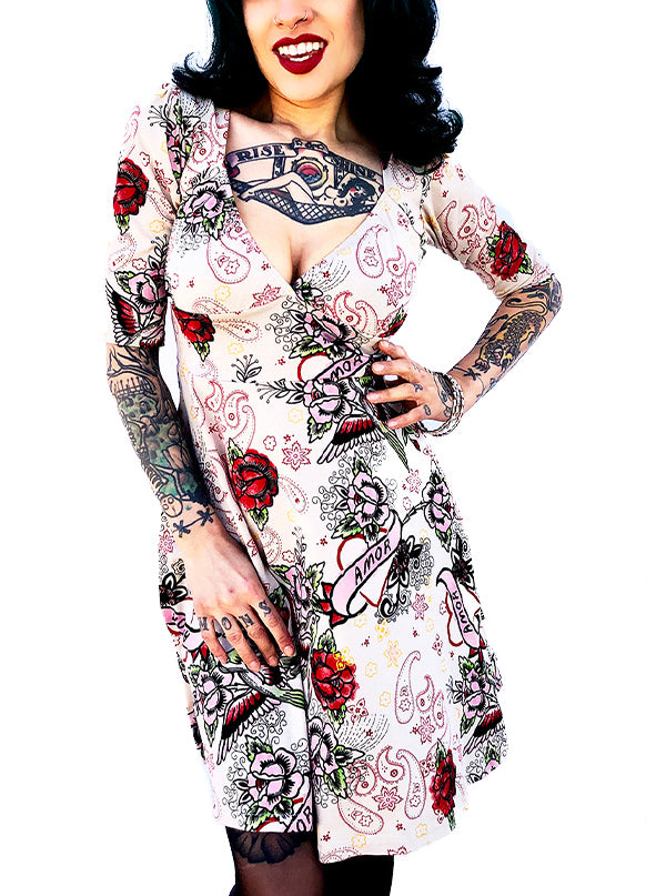 Women's Love Lola Dress by Switchblade Stiletto (Cream)