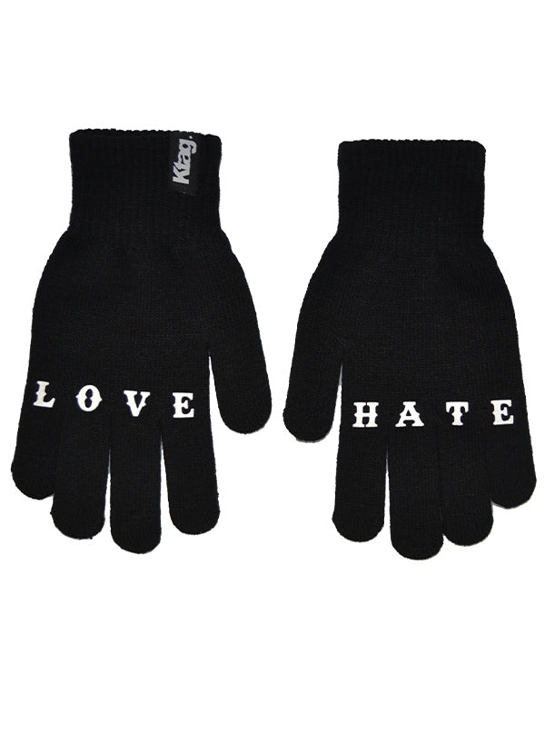 Unisex Love Hate Gloves by Ktag