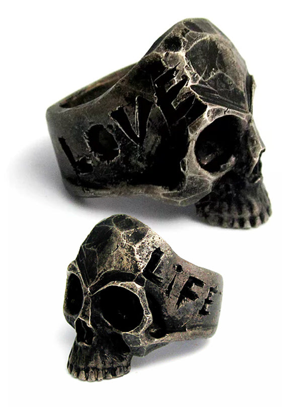 """Love Life"" Oxidized Skull Ring by Lor G Jewellery (Sterling Silver)"