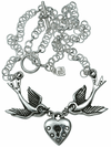 """Love Locket"" Necklace by Femme Metale - www.inkedshop.com"