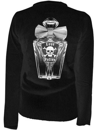 "Women's ""Love Potion"" Cardigan by Pinky Star (Black) - www.inkedshop.com"