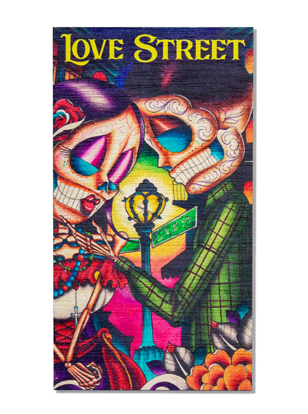 Love Street Wood Art by Dave Sanchez for Black Market Art Company