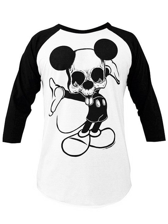 "Men's ""TaDa"" Baseball Tee by Black Market Art (White/Black) - InkedShop - 1"