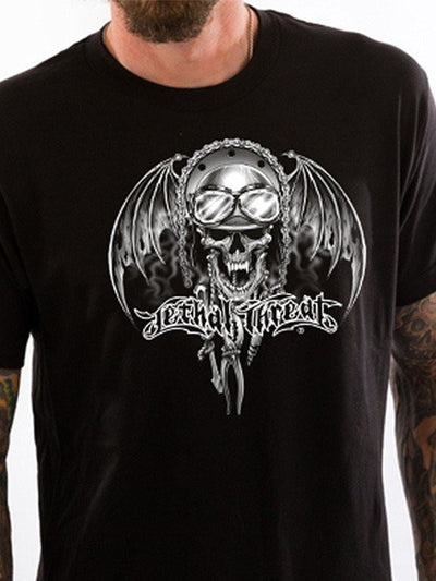 "Men's ""Gear Chain"" Tee by Lethal Threat (Black) - www.inkedshop.com"