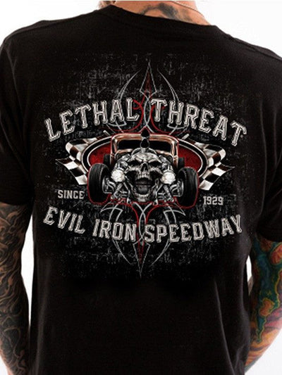 "Men's ""Evil Iron Speedway"" Tee by Lethal Threat (Black) - www.inkedshop.com"
