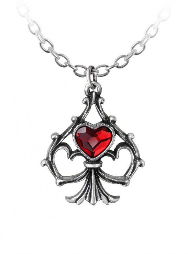 """Lucky In Love"" Pendant by Alchemy of England - www.inkedshop.com"