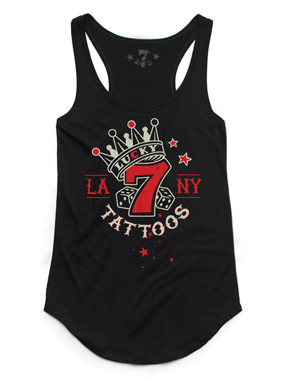 Women's Lucky 7 Tattoo Tank by 7th Revolution
