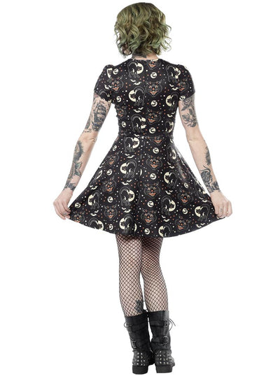 Women's Lucy Fur Scuba Dress by Sourpuss