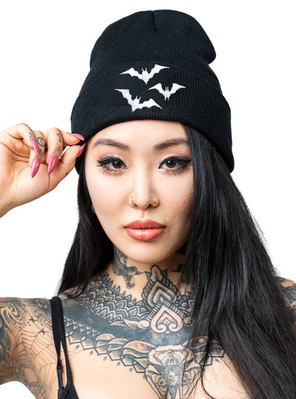 Luna Bats Knit Hat by Sourpuss