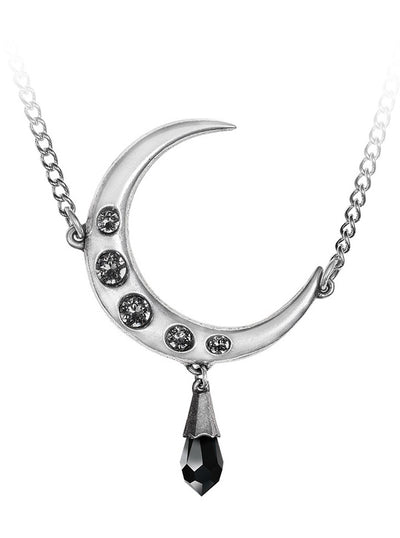 Lune Noir Necklace by Alchemy of England (Pewter)