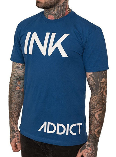 "Men's ""INK"" Tee by InkAddict (Royal Blue)"