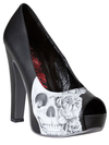 "Women's Heartless"" Pumps by Metal Mulisha (Black) - www.inkedshop.com"